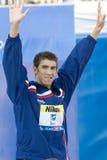 SWM : Championnat d'Aquatics du monde - papillon de 200m des hommes de cérémonie Images stock