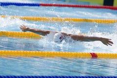 SWM : Championnat d'Aquatics du monde - papillon de 100m des hommes qualific Photos libres de droits