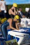 SWM : Championnat d'Aquatics du monde - papillon semi fi de 50m des femmes Photo libre de droits