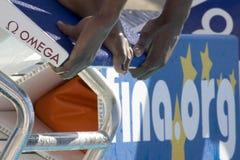 SWM : Championnat d'Aquatics du monde - qualifi de papillon de 50m des femmes Photos stock