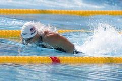 SWM : Championnat d'Aquatics du monde - qulifica de papillon de 100m des hommes Photos libres de droits
