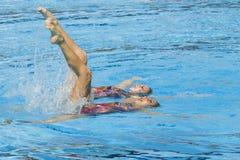 SWM : Championnats aquatiques du monde - natation synchronisée Photo stock
