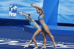 SWM : Championnats aquatiques du monde - natation synchronisée Photos stock