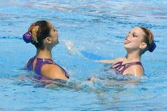 SWM : Championnats aquatiques du monde - natation synchronisée Photo libre de droits