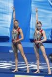 SWM : Championnats aquatiques du monde - natation synchronisée Photos libres de droits
