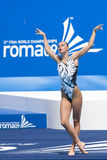 SWM: Final Solo Synchronised Swimming Royalty Free Stock Photos