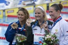 SWM: Het Kampioenschap van wereldaquatics - de rugslagdef. van Vrouwen 200m Stock Foto's