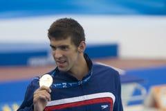 SWM: Het Kampioenschap van wereldaquatics - 100m de vlinderdef. van Mensen Stock Fotografie