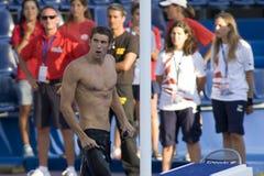 SWM: Het Kampioenschap van wereldaquatics - 100m de vlinderdef. van Mensen Stock Afbeeldingen