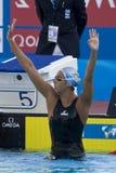 SWM: Het Kampioenschap van wereldaquatics - 1500m het vrije slagdef. van vrouwen Stock Foto's