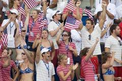 SWM: Het Kampioenschap van wereldaquatics - 4 x 100m van Mensen hutspotdef. Stock Foto's
