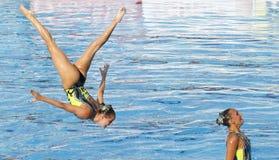 SWM : Natation sychronised de l'équipe de femmes de championnat du monde Photos libres de droits