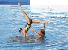 SWM : Natation sychronised de l'équipe de femmes de championnat du monde Images stock
