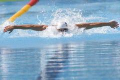 SWM :世界水上冠军- qualific精神100m的蝴蝶 免版税库存图片