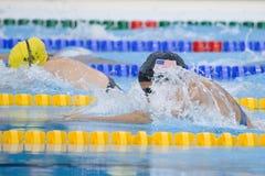SWM: VärldsAquaticsmästerskap - kvinnors fina för 100m bröstsim Arkivbild