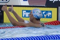 SWM: VärldsAquaticsmästerskap - kvinnors final för 1500m fristil Royaltyfri Foto