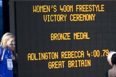 SWM: VärldsAquaticsmästerskap - kvinnors final för 400m fristil Arkivbilder