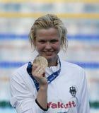 SWM: VärldsAquaticsmästerskap - kvinnors final för 100m fristil Arkivbild