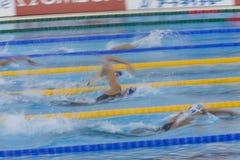 SWM: VärldsAquaticsmästerskap - kvinnors final för 800m fristil Arkivfoto