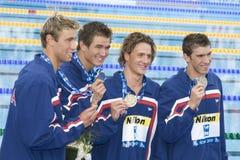 SWM: VärldsAquaticsmästerskap - mäns fina för 4- x 100m fristil Royaltyfri Bild