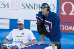 SWM: VärldsAquaticsmästerskap - mäns final för 100m fjäril Arkivbild