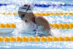 SWM: Weltaquatics-Meisterschaft - Brustschwimmen das 100m der Frauen Lizenzfreie Stockfotos