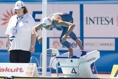 SWM: Weltaquatics-Meisterschaft - Brustschwimmen das 100m der Frauen Stockfoto