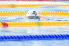 SWM: Weltaquatics-Meisterschaft - Brustschwimmen das 100m der Frauen Stockfotografie