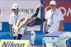 SWM: Weltaquatics-Meisterschaft - Brustschwimmen das 100m der Frauen Lizenzfreie Stockfotografie