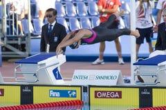 SWM: Weltaquatics-Meisterschaft - Brustschwimmen das 100m der Frauen halb Stockfoto