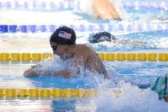 SWM: Weltaquatics-Meisterschaft - Brustschwimmen das 100m der Frauen halb Stockbild