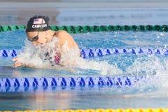 SWM: Weltaquatics-Meisterschaft - Brustschwimmen das 100m der Frauen halb Lizenzfreie Stockfotografie