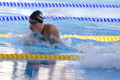 SWM: Weltaquatics-Meisterschaft - Brustschwimmenschluß das 100m der Männer Stockbild