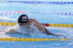 SWM: Weltaquatics-Meisterschaft - Brustschwimmenschluß das 100m der Männer Lizenzfreie Stockfotografie