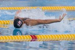 SWM: Weltaquatics-Meisterschaft - der Männer das 100m Schmetterlinges Flosse halb Lizenzfreie Stockfotografie