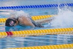 SWM: Weltaquatics-Meisterschaft - der Männer das 100m Schmetterlinges Flosse halb Lizenzfreie Stockbilder