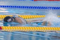 SWM: Weltaquatics-Meisterschaft - der Männer das 100m Schmetterlinges Flosse halb Lizenzfreies Stockbild