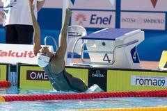 SWM: Weltaquatics-Meisterschaft - Rückenschwimmen das 100m der Frauen Lizenzfreie Stockbilder