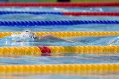 SWM: Weltaquatics-Meisterschaft - Rückenschwimmen das 100m der Männer Lizenzfreie Stockfotos