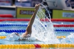SWM: Weltaquatics-Meisterschaft - Rückenschwimmen das 100m der Männer Lizenzfreie Stockbilder