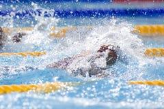 SWM: Weltaquatics-Meisterschaft - Rückenschwimmen das 100m der Männer Lizenzfreie Stockfotografie