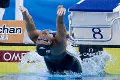 SWM: Weltaquatics-Meisterschaft - Rückenschwimmenschluß das 100m der Frauen Lizenzfreies Stockbild