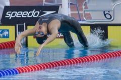 SWM: Weltaquatics-Meisterschaft - Rückenschwimmenschluß die 200m der Frauen Lizenzfreie Stockfotografie