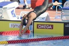 SWM: Weltaquatics-Meisterschaft - Schmetterlingsschluß das 100m der Frauen Lizenzfreies Stockbild