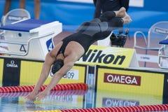 SWM: Weltaquatics-Meisterschaft - Schmetterlingsschluß das 100m der Männer Stockbilder