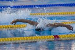SWM: Weltaquatics-Meisterschaft - Schmetterlingsschluß das 100m der Männer Lizenzfreie Stockfotografie