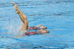 SWM: World Aquatic Championships - Synchronised swimming Stock Photo