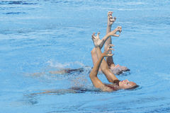 SWM: World Aquatic Championships - Synchronised swimming Stock Images