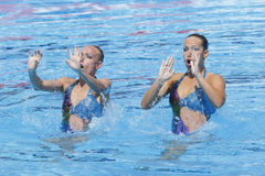 SWM: World Aquatic Championships - Synchronised swimming Stock Images