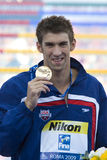 SWM: World Aquatics Championship - Ceremony mens 200m butterfly Stock Photo